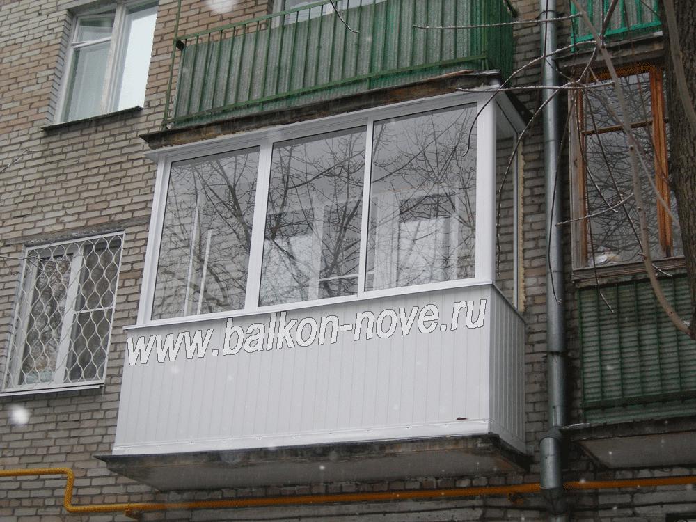 За сколько можно остеклить балкон в хрущевке..